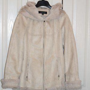 Jones New York Super Soft Faux Fur Jacket M